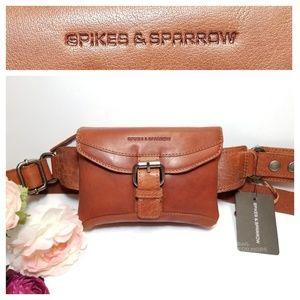 Spikes & Sparrow - Leather Waist Bag with Buckle